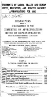 Departments of Labor  Health and Human Services  Education  and Related Agencies Appropriations for 1992 PDF