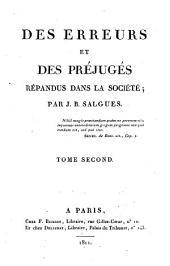 Des erreurs et des préjugés répandus dans la société: Volume1