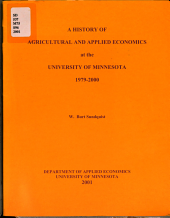 A History of Agricultural and Applied Economics at the University of Minnesota  1979 2000 PDF