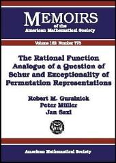 The Rational Function Analogue of a Question of Schur and Exceptionality of Permutation Representations: Issue 773