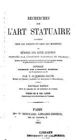 Recherches sur l'art statuaire: considéré chez les anciens & chez les modernes ...