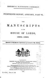 The Manuscripts of the House of Lords: Volume 1, Part 4