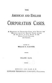 American and English corporation cases: Volume 48