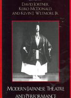 Modern Japanese Theatre and Performance PDF