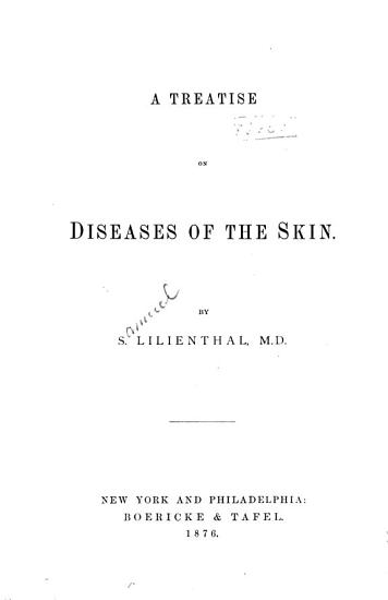 A Treatise on Diseases of the Skin PDF