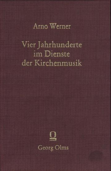 Vier jahrhunderte im dienste der kirchenmusik PDF