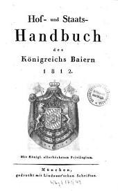 Hof- und Staatshandbuch des Königreichs Bayern: 1812