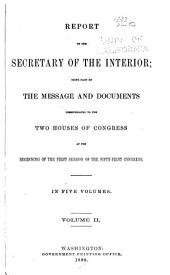 Annual Reports of the Department of the Interior ... [with Accompanying Documents]: Volume 2