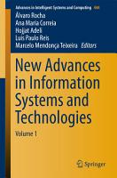 New Advances in Information Systems and Technologies PDF