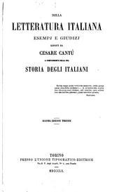 Della letteratura italiana: esempj e giudizj