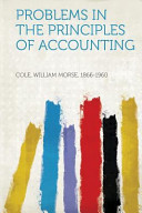 Problems in the Principles of Accounting