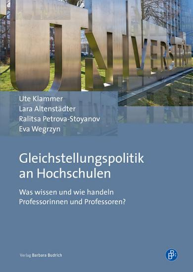 Gleichstellungspolitik an Hochschulen PDF
