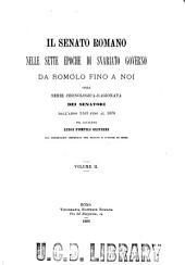 Senato romano delle: Volume 2