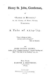 Henry St  John  Gentleman Book