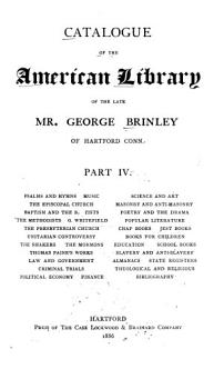 Catalogue of the American Library of the Late Mr  George Brinley PDF