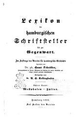 Lexikon der hamburgischen schriftsteller bis zur gegenwart: bd. Westphalen-Zylius. Fortgesetzt von A.H. Kellinghusen. 1883