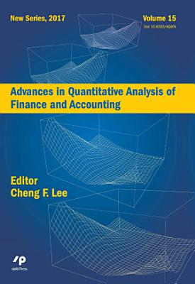 Advances in Quantitative Analysis of Finance and Accounting  New Series  Vol   15
