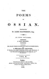 The poems of Ossian, tr. by J. Macpherson. Blair's critical dissertations
