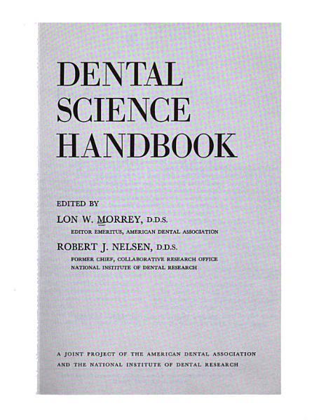 Dental Science Handbook PDF