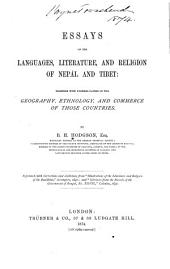 Essays on the Languages, Literature, and Religion of Nepál and Tibet