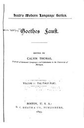 Goethes Faust: The first part