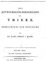 ber Entwickelungsgeschichte der Thiere PDF