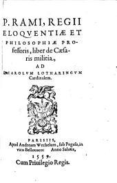 Liber de Militia C. Iul. Caesaris