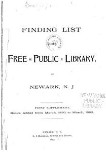 Finding List of the Free Public Library of Newark  N J  PDF