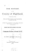 The History of the County of Highland  in the State of Ohio PDF