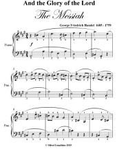 And the Glory of the Lord Easy Piano Sheet Music