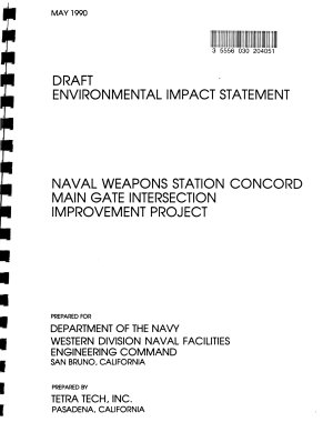 Naval Weapons Station Concord Main Gate Intersection Improvement Project  Contra Costa County