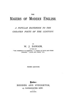 The Makers of Modern English PDF
