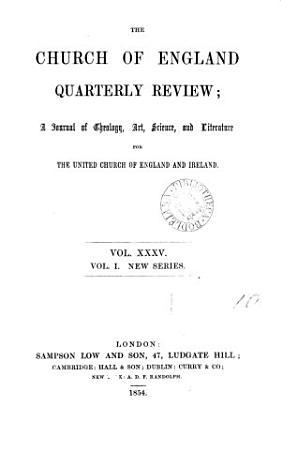 The Church of England quarterly review PDF