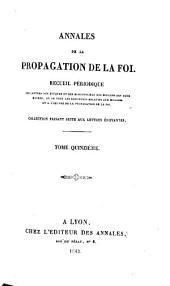 Annales de l'Association de la propagation de la foi: Volume15