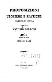 Proposizioni teoriche e pratiche di matematica