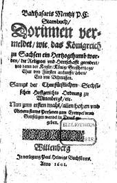 Stammbuch, darinnen vermeldet wie das Königreich Sachsen ein Herzogthumb worden
