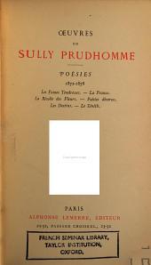 Poésies 1872-1878: Les vaines tendresses; La France; La rèvolte des fleurs; Poésies diverses; Les destins; Le zenith