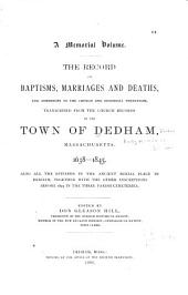 Early Records of Dedham, Massachusetts: Volume 2
