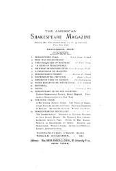 The American Shakespeare Magazine: Volumes 2-4