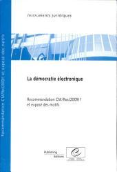 Démocratie électronique: Recommandation CM/Rec(2009)1 et exposé des motifs