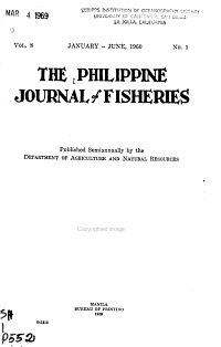 The Philippine Journal of Fisheries PDF
