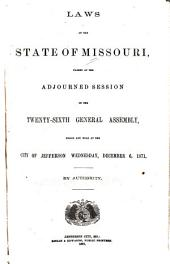 Laws of the State of Missouri Passed at the Regular Session of the ... General Assembly