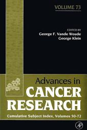 Advances in Cancer Research: Cumulative Subject Index