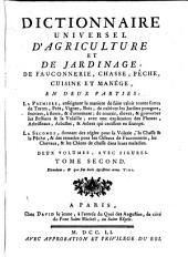 Dictionnaire universel d'Agriculture, et de Jardinage: Volume2