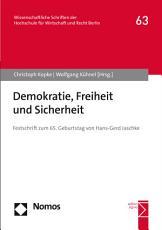 Demokratie  Freiheit und Sicherheit PDF