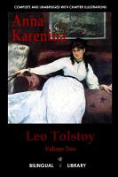 Anna Karenina  English Russian Parallel Text Edition Volume Two PDF