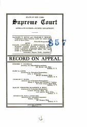 State Of New York Supreme Court Appellate Division- Fourth Department