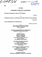 California. Supreme Court. Records and Briefs: S017730, Petition for Review