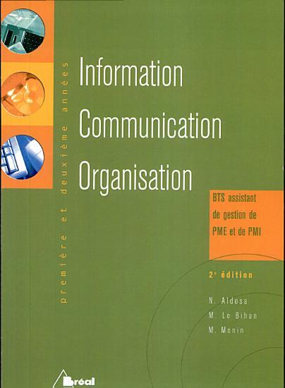 Information communication organisation BTS assistant de gestion PME et de PMI PDF