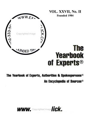 Yearbook of Experts 2008 PDF